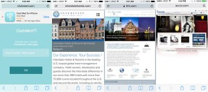Hotel Websites on a iPhone